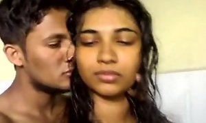 North indian stunner sucks her bf together with receive well-found