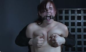 Submissive redhead bitch gets totally eaten up
