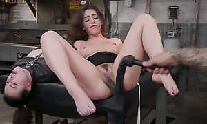 Tattooed stallion dominates let go two rebellious brunettes
