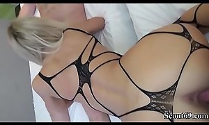 German Teen Fuck and Facial in Tiro Threesome