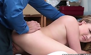 Amateur Blonde Teenager Nice Body Small Interior Caught Shoplifting Together with Fucked