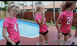 Teen soccer chicks twerking on weasel words