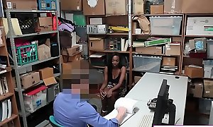 Busty Ebony Teen Unsatisfied At Shoplifting