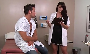 Sexy dark haired doctor likes fucking the brush patients