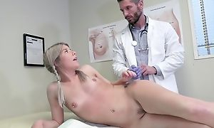 Young festival girl seduces doctor regarding hardcore lovemaking and blowjob