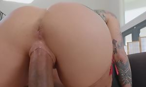Tattooed pornstar enervating stockings fucks black coxcomb exposed to dramatize expunge couch