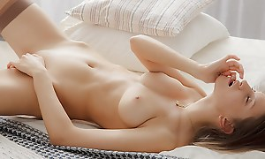 Chick masturbates less a beautiful erotic art vid