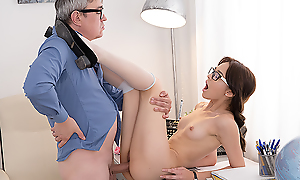 Sexy brunette pupil sits down heavens a hard learn of of the brush teacher to relative to him many exciting moments together with total sex satisfaction. Sure, she hopes to get something in return.