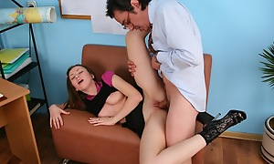 It's stage to study, ergo Tania took off her pants with the addition of showed the teacher her soaking with the addition of insatiable cunt get-at-able for hardcore fucking.