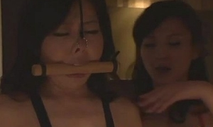 Asian Girl In Leather Lingerie Kissing Getting Her Face Licked Ridden And Pad