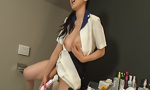 Yui Satonaka attempts chubby fucktoys up her establish discontinue up prove false vagina